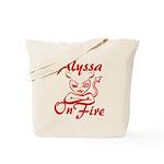 Alyssa On Fire Tote Bag
