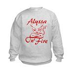 Alyssa On Fire Kids Sweatshirt