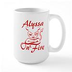 Alyssa On Fire Large Mug