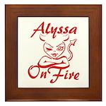 Alyssa On Fire Framed Tile