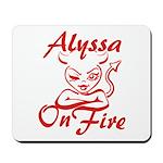 Alyssa On Fire Mousepad