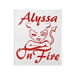 Alyssa On Fire Throw Blanket