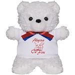 Alyssa On Fire Teddy Bear