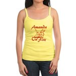 Amanda On Fire Jr. Spaghetti Tank