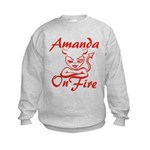 Amanda On Fire Kids Sweatshirt