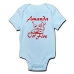 Amanda On Fire Infant Bodysuit