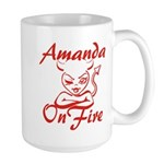 Amanda On Fire Large Mug