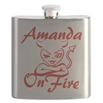Amanda On Fire Flask