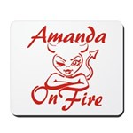 Amanda On Fire Mousepad