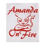 Amanda On Fire Throw Blanket