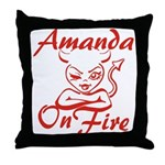 Amanda On Fire Throw Pillow