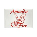 Amanda On Fire Rectangle Magnet