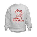 Amy On Fire Kids Sweatshirt