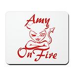 Amy On Fire Mousepad