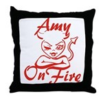 Amy On Fire Throw Pillow