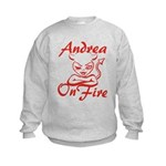 Andrea On Fire Kids Sweatshirt