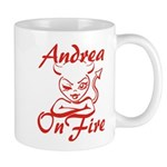 Andrea On Fire Mug