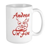Andrea On Fire Large Mug