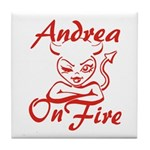 Andrea On Fire Tile Coaster