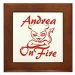 Andrea On Fire Framed Tile