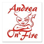 Andrea On Fire Square Car Magnet 3