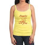 Angela On Fire Jr. Spaghetti Tank