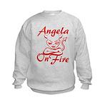 Angela On Fire Kids Sweatshirt