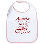 Angela On Fire Bib