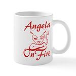 Angela On Fire Mug