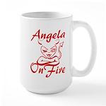 Angela On Fire Large Mug
