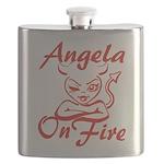 Angela On Fire Flask