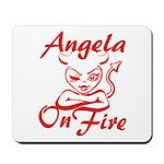 Angela On Fire Mousepad