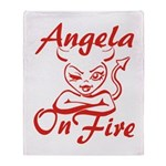 Angela On Fire Throw Blanket