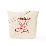 Angelina On Fire Tote Bag