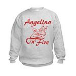 Angelina On Fire Kids Sweatshirt