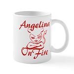 Angelina On Fire Mug