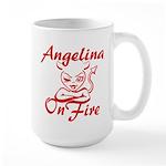 Angelina On Fire Large Mug