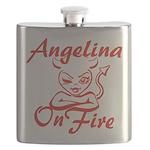Angelina On Fire Flask