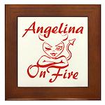 Angelina On Fire Framed Tile