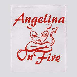 Angelina On Fire Throw Blanket