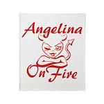 Angelina On Fire Throw Blanket