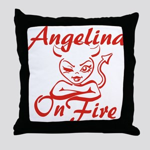Angelina On Fire Throw Pillow