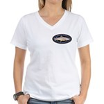 Women's V-Neck Brown Trout T-Shirt