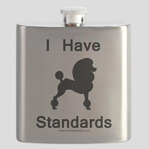 Poodle - I Have Standards Flask