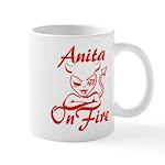 Anita On Fire Mug