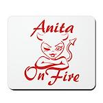 Anita On Fire Mousepad