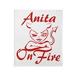 Anita On Fire Throw Blanket