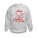 Ann On Fire Kids Sweatshirt