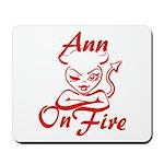 Ann On Fire Mousepad