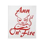Ann On Fire Throw Blanket